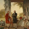 3. 'Washington and Lafayette on the steps of Mount Vernon, 1784', Rossiter & Mignon, 1859.  Attributed to David Samuel.